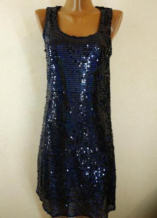 Красивое вечернее платье в паетку