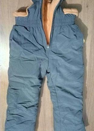 Комбинезон, штаны теплые, зимние, детские
