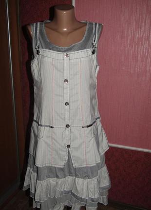 Платье сарафан р-р 12 бренд fair poul vous