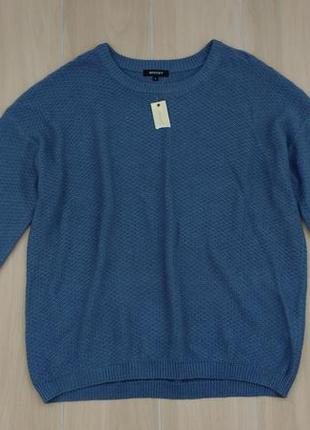 Пог 64 см базовый мужской хлопковый свитер !