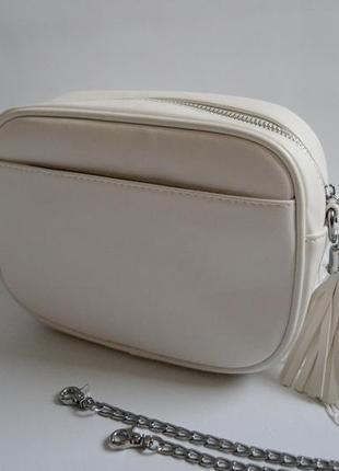 Сумка клатч білого кольору актуальна