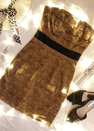 Шикарное кружевное платье мини от h&m/маленький размер xs -s