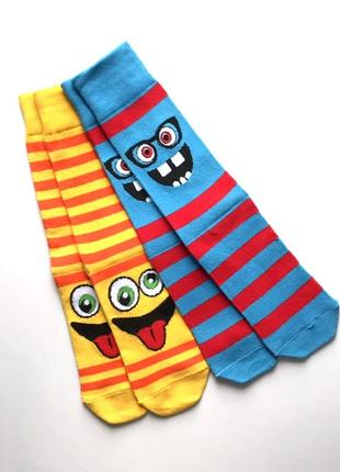 Комплект 2 пары. прикольные молодёжные коттоновые носки, primark® 39-42