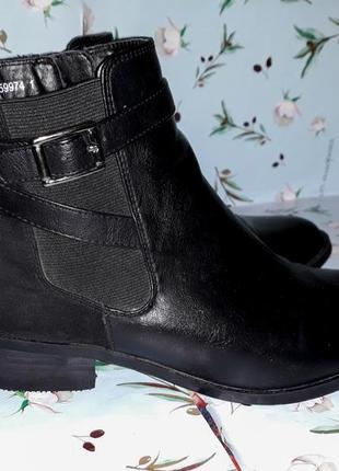 Шикарные кожаные ботинки полусапожки new look, размер 37