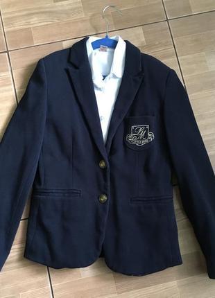 Пиджак жакет для девочки zara kids на 11-12 лет рост 152см.