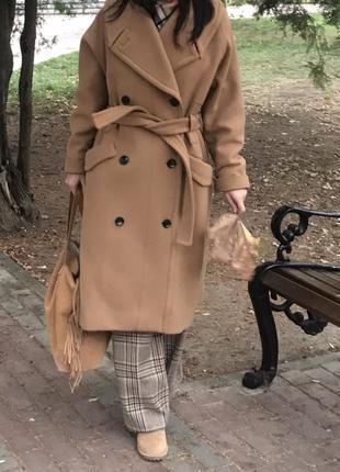 Продам своё пальто h&m studio кэмел оверсайз