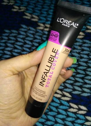Тональный крем для лица loreal infallible total cover 24hr foundation 30 ml