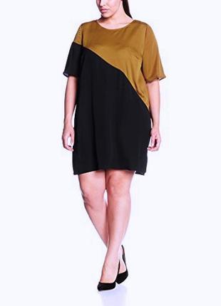 Красивое платье прямого кроя большого размера