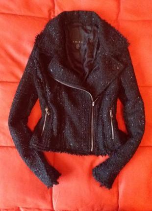 Крутая актуальная твидовая косуха,пиджак
