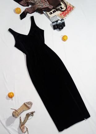 Элегантное бархатное платье миди