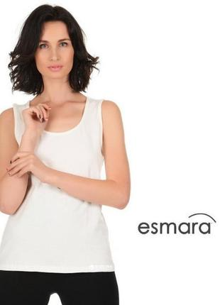 Хлопковая майка на широких бретелях - esmara® германия l