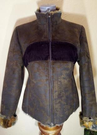 Распродажа зимней женской одежды!иск дубленка в состоянии новой,46-48 р