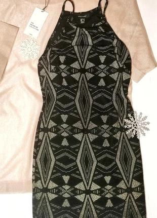 Новогоднее платье чёрное в стразы atmosphere  m
