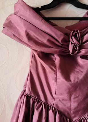 Розовое бальное платье, винтаж, ретро, платье с пышной юбкой, новый год, большой размер