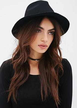 Обнова! классическая черная фетровая шерсть шляпа федора новая с лентой рр 57