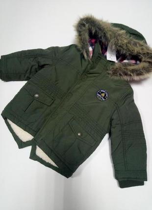 Парка куртка теплая f&f
