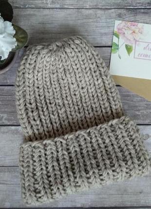 Супер мягкая новая вязаная шапка ручной работы / шапка вязаная ручной работы