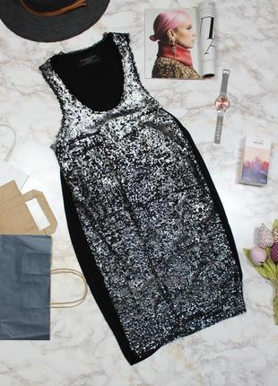 Обнова! платье мини коктейльное двусторонние пайетки нарядное бренд guess