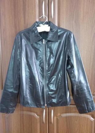 Пиджак куртка кожаная натуральная масляная кожа, состояние новой вещи
