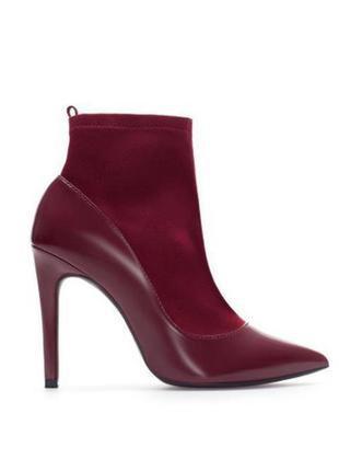 Шикарные ботинки туфли, лодочки zara марсала zara
