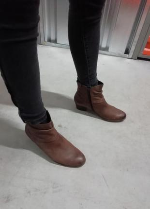 Кожаные ботинки gabor натуральная кожа