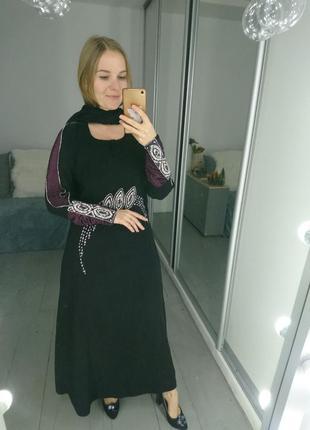 Вечернее платье в камнях в восточном стиле №479