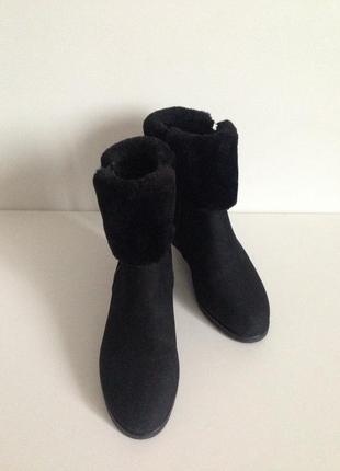 Теплые ботиночки  сапоги нубук keddo