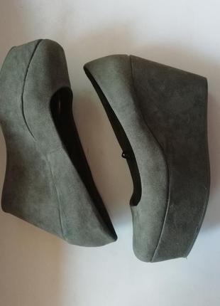 H&m shoes туфли хаки на платформе