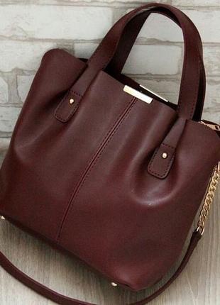 Стильная бордовая сумочка