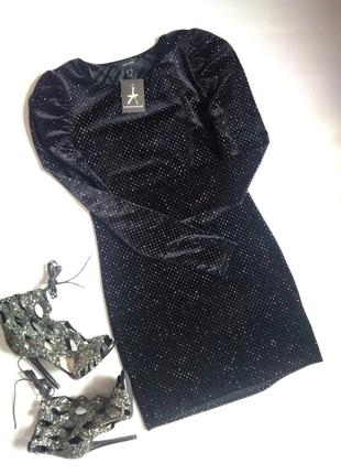 Бархатное платье с блеском