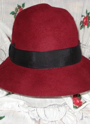 "Супер шляпа шикарная""dh"",58см.,100%шерсть."