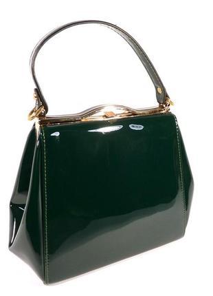 Лаковая сумочка valensiy 6839-5 темно-зеленая