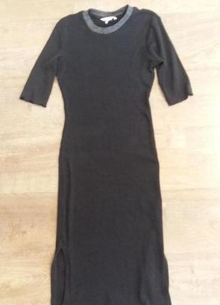 Плаття міді в рубчик з розпорками
