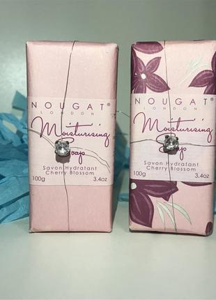 2 увлажняющих мыла noughat с запахом цветущей вишни с кристалом мыло 100 грамм