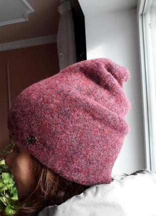 Тепла та м'яка шапка atrics, вовна   акрил гарного пурпурного кольору1