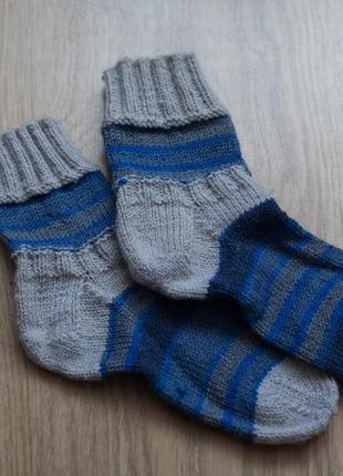 Носки вязаные, ручная работа