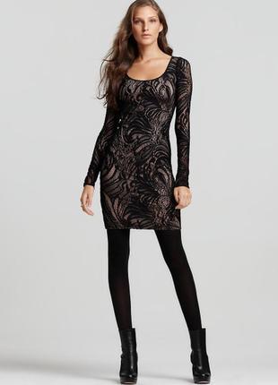 Bcbgmaxazria  нарядное кружевное платье , оригинал, новое