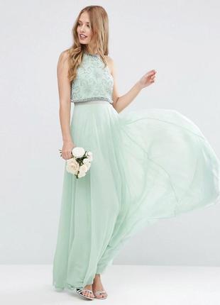 🔥скидки🔥новое шикарное вечернее длинное платье в пол asos с камнями