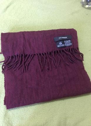 Шикарный фирменный шерстяной шарф roy robson