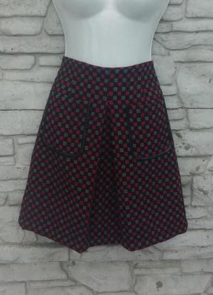 Распродажа!!! стильная, теплая юбочка с карманчиками