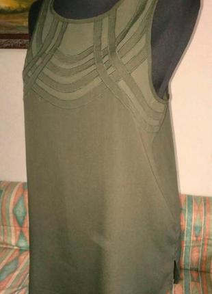 💖cупер блуза-туника с шифоновой аппликацией 46размер river island🌿