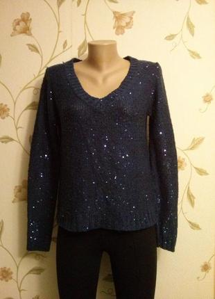 Марцающий темно-синий свитерок