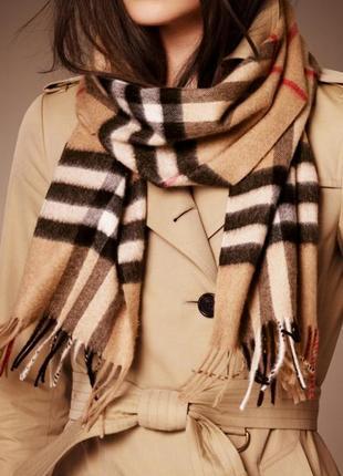 Брендовый шарф из шерсти