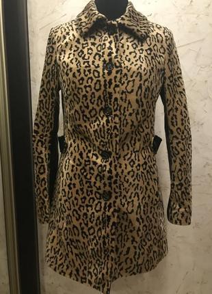 Трендовое пальто, плащ, тренд в леопардовый принт,кожа леопард,