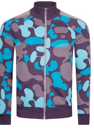 Оригинал мужская спортивная куртка, олимпийка puma heritage grpahic t7. размер s
