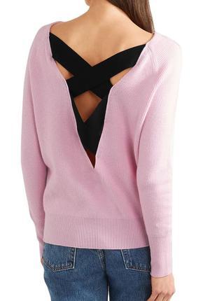 Maje, оригинал! стильный, нежный розовый свитер с оригинальной спинкой