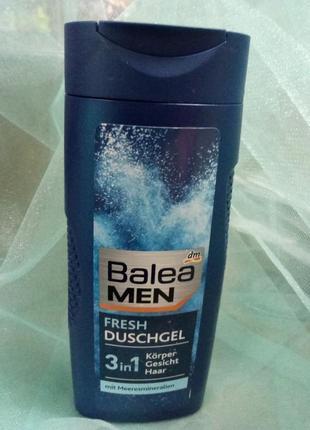 Balea men 3в 1, шампуь-гель для душа-гель для бритья