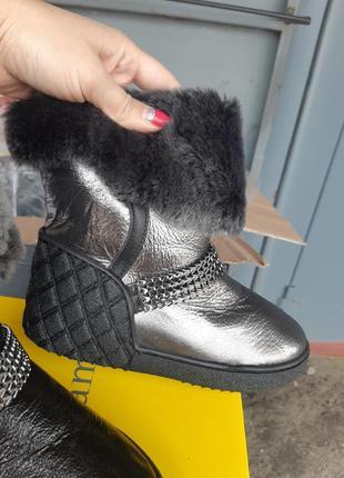 Распродажа!!! кожанные зимние ботинки