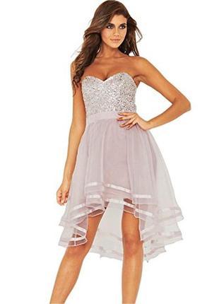"""Невероятно красивое каскадное платье из органзы с пайетками """"lipsy"""" vip"""