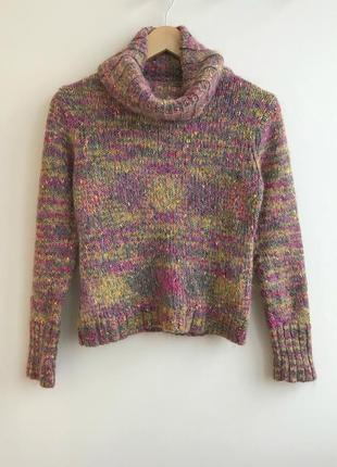 Теплый вязанный свитер promod мохеровый свитер